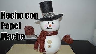 Muñeco de nieve falsa ceramica- Ceramic fake snowman- boneco de neve falso cerâmico