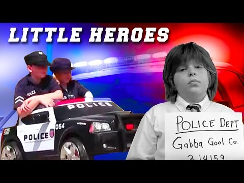 Little Heroes  25 - The Kid Cops, The Fire, Nerf Gun Battle and The Kids Police Car