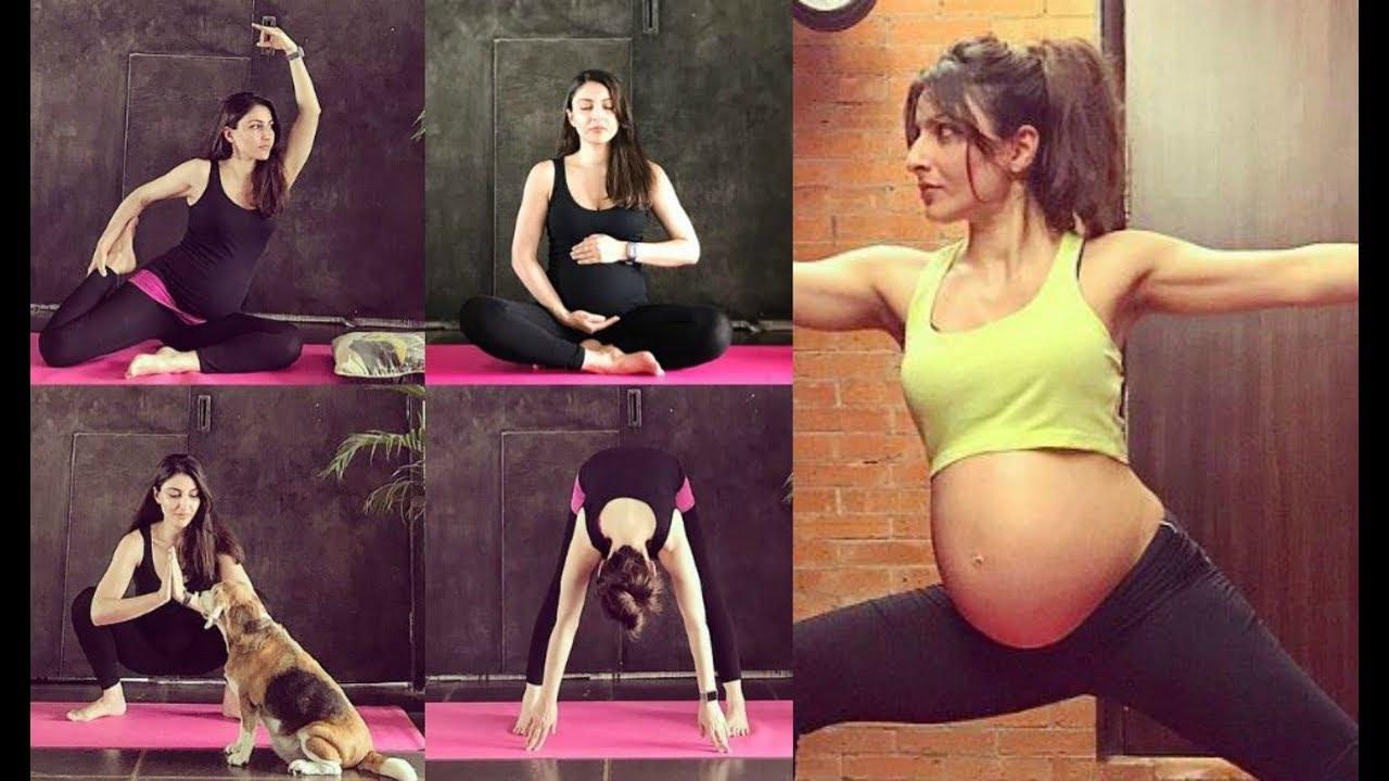 Soha Ali Khan Pregnancy Yoga - YouTube