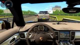 Porsche Panamera City car Driving Simulator 315Km/h on the Highway HD1080P