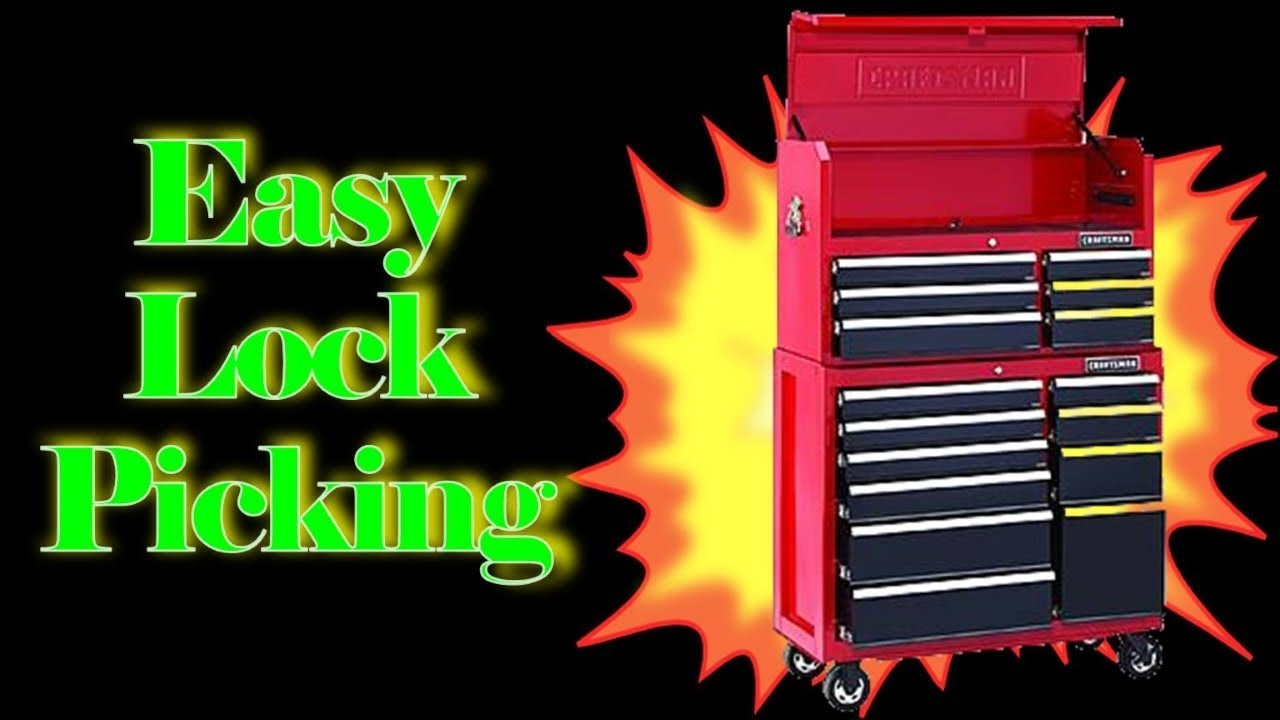 Unlock A Craftsman Toolbox In Seconds Youtube