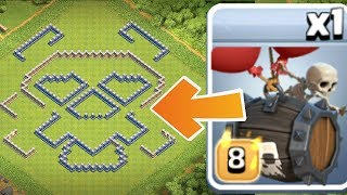 "INSANE SKELETON BARREL MAZE BASE!! ""Clash Of Clans"" TROLL WAR!!"