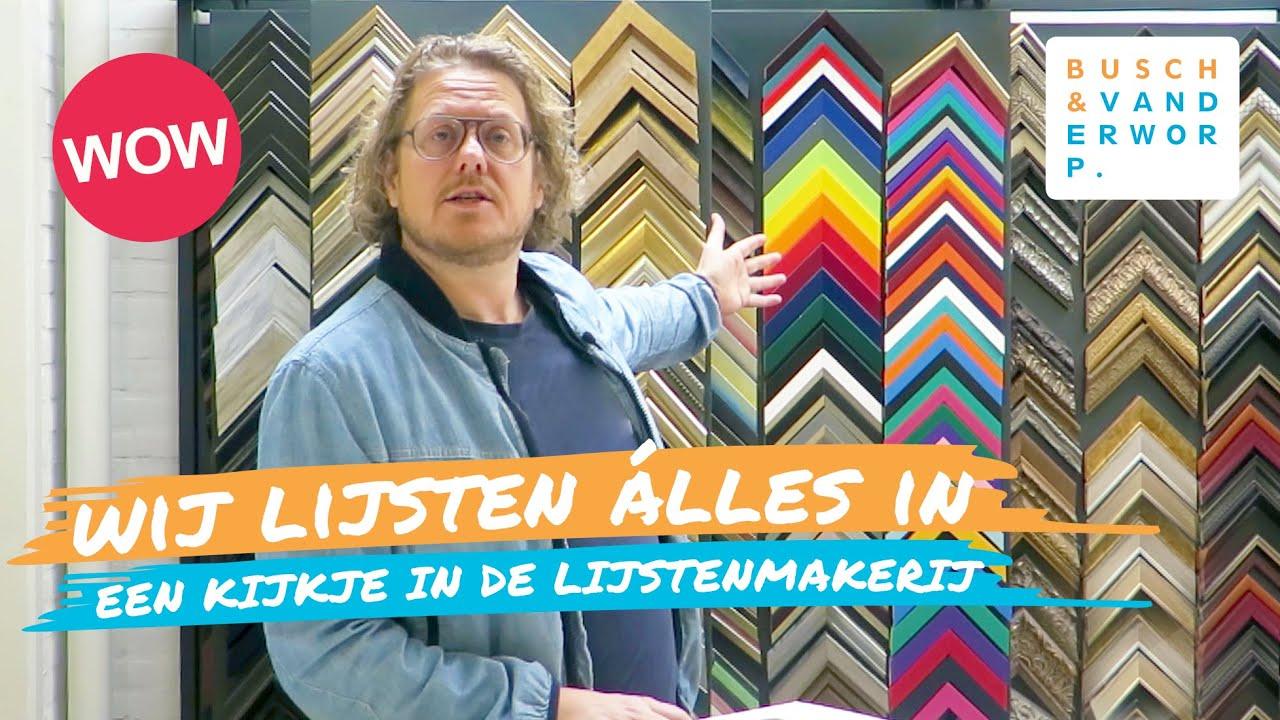 Lijstenmakerij Of Inlijsten In Zwolle Busch Van Der Worp