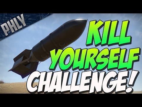KILL YOURSELF CHALLENGE! (War Thunder Tanks Gameplay)