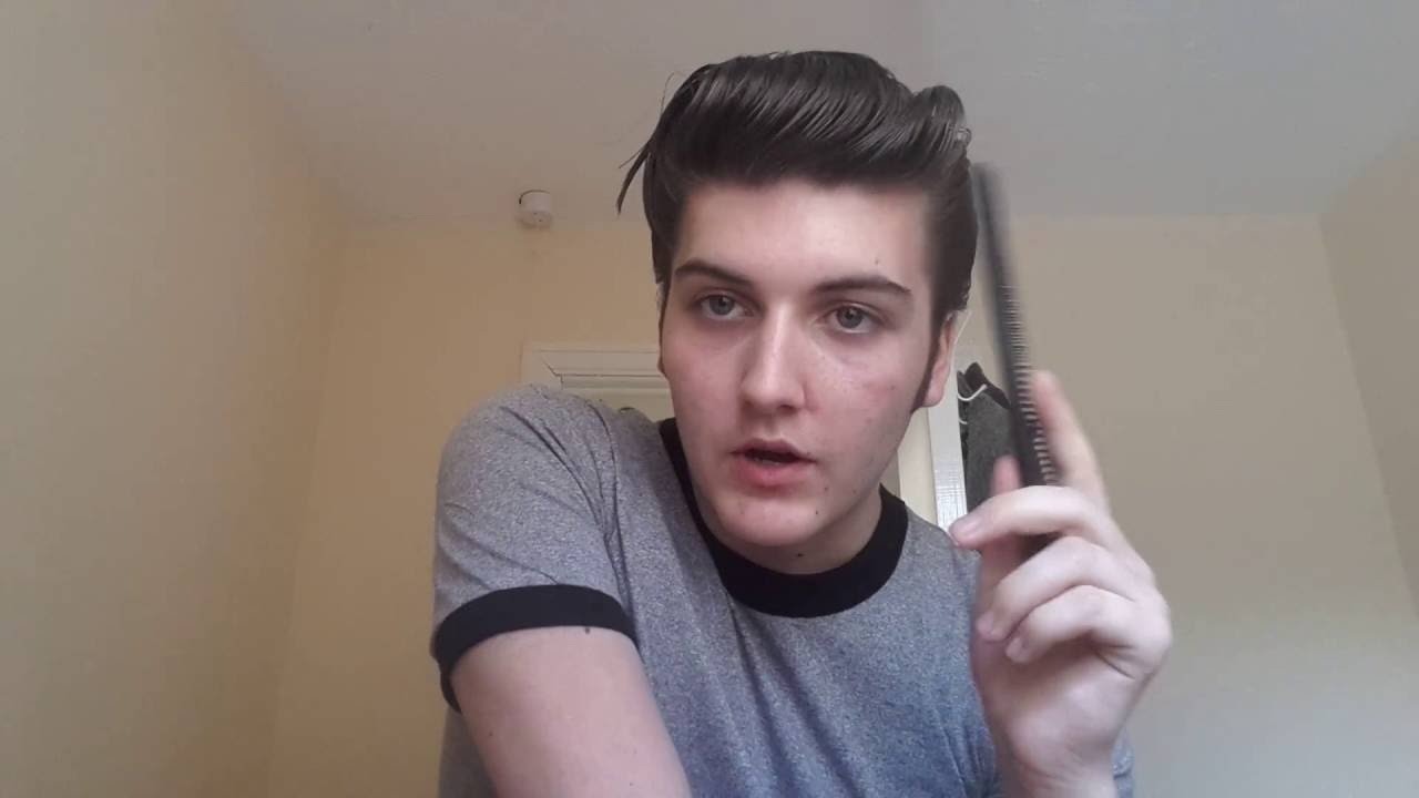 how to get elvis hair style elvis pomp tutorial part 1 4649