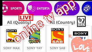 How to watch online \ live tv on our smart phones?