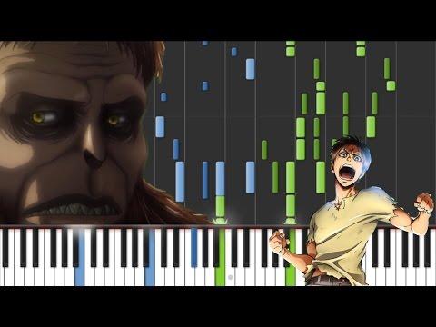 "Attack On Titan Season 2 OP - ""Shinzou wo Sasageyo"" - Linked Horizon [Piano Tutorial] (Synthesia)"