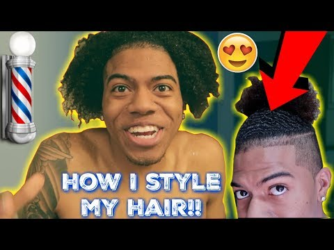 HOW TO STYLE BLACK MEN HAIR BUN!!😍👀** CUTTING MY HAIR**