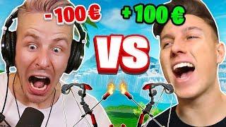 100€ BOGEN 1v1 gegen REWI in FORTNITE!