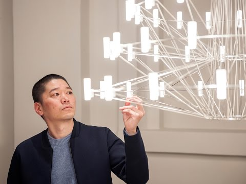 Designer Arihiro Miyake in conversation with Dezeen about the Moooi Coppelia Suspension Light