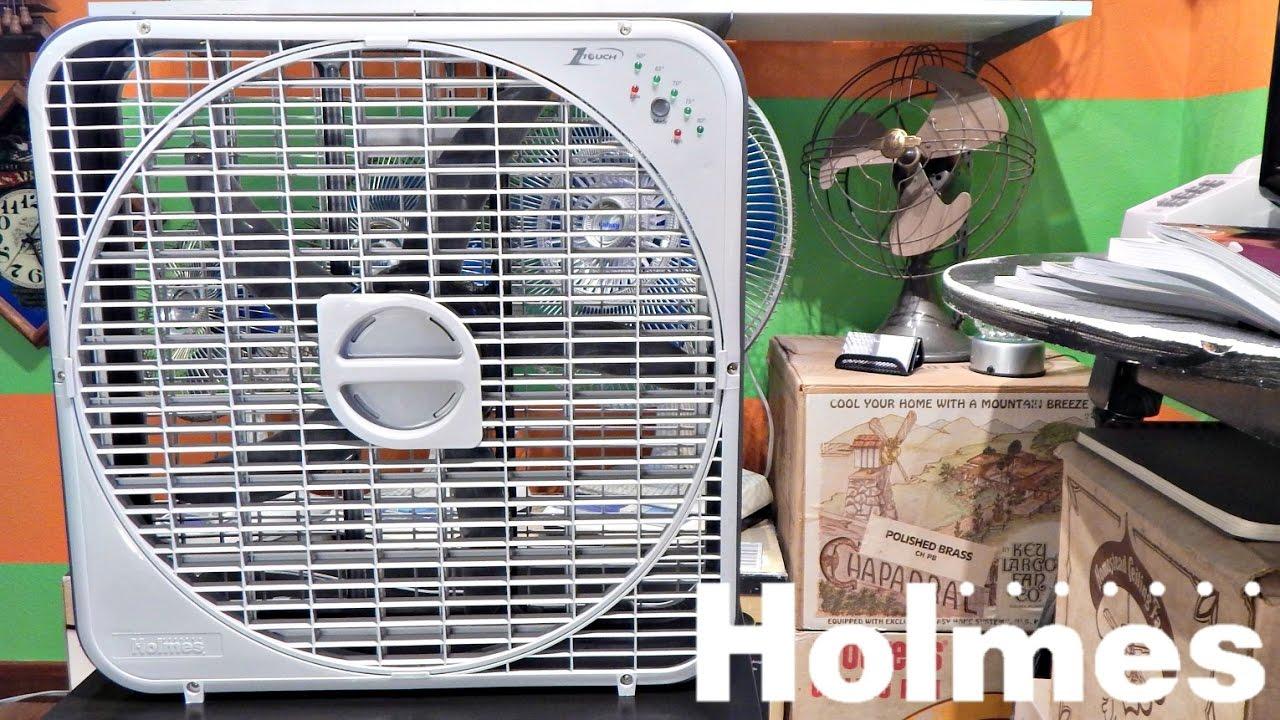 Holmes Box Fan : Holmes touch box fan youtube
