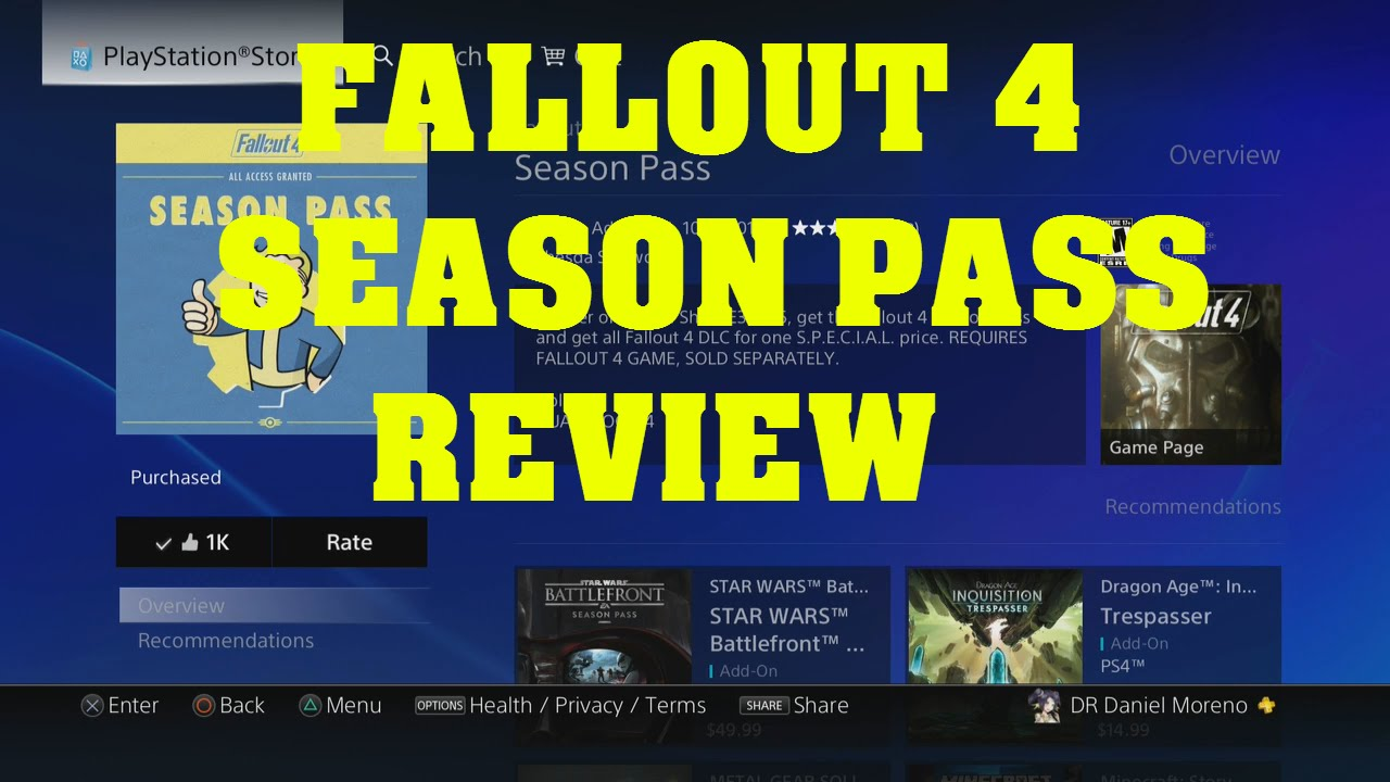 FALLOUT 4 SEASON PASS CURRENTLY FREE ON UK PLAYSTATION STORE - YouTube