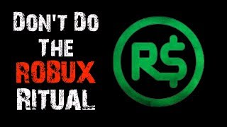 """""""Don't Do The Robux Ritual"""" Roblox Creepypasta"""