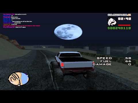 GTA San Andreas: Monster Truck Drifting (canyon)