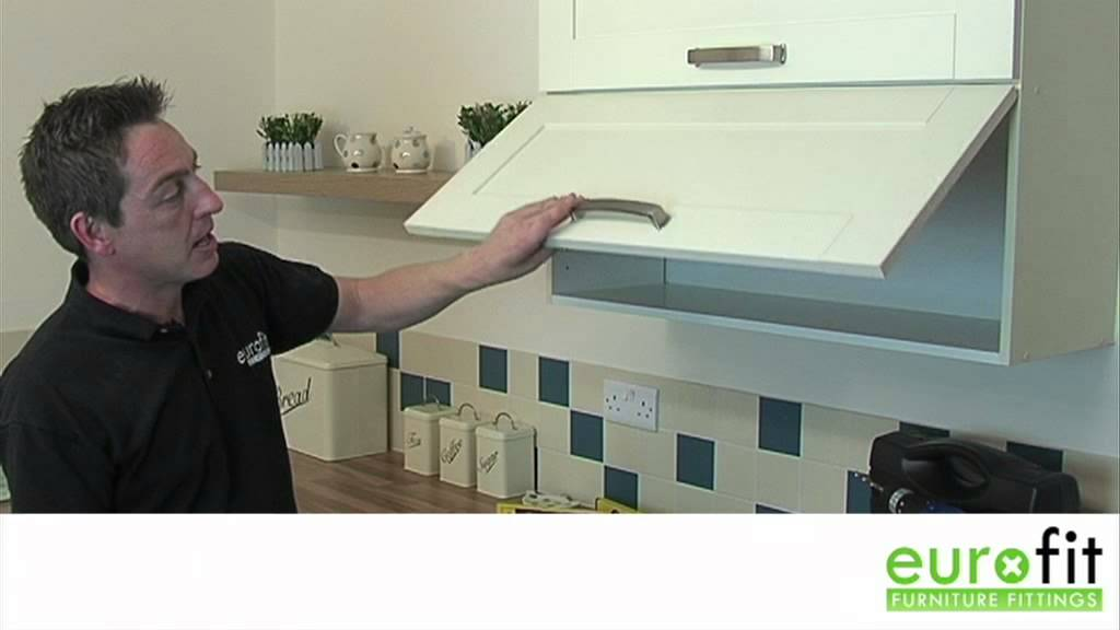 How To Fit Gas Strut Cupboard Door Stays Youtube
