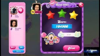 Candy Crush Saga Level 2921   |  3-Star ⭐⭐⭐