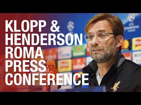 Klopp & Henderson's Champions League semi-final press conference | Roma