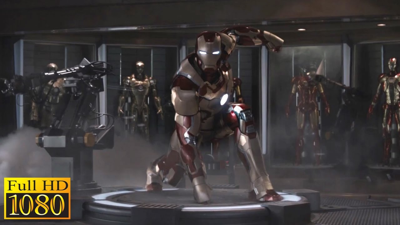 "iron man 3 (2013) - ""mark 42 first suit up"" scene (1080p) full hd"