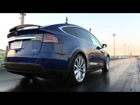 Tesla Model X P90D Ludicrous Launch Demonstration with 0-60 MPH in 3.1 Seconds