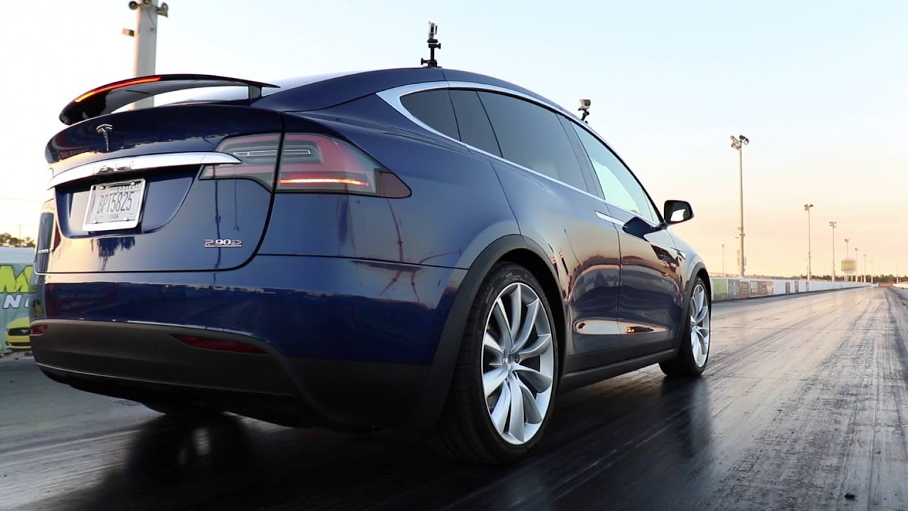 Tesla Model X Ludicrous Launch Demonstration With Mph In