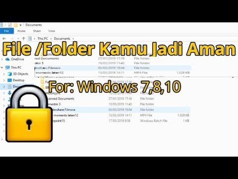 Cara mengunci folder/file pada laptop/PC (for windows 7,8,10) - YouTube