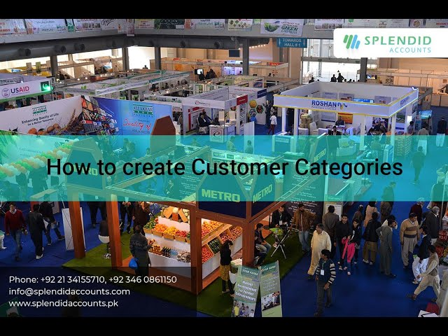 How to Add Customer Categories in Splendid Accounts