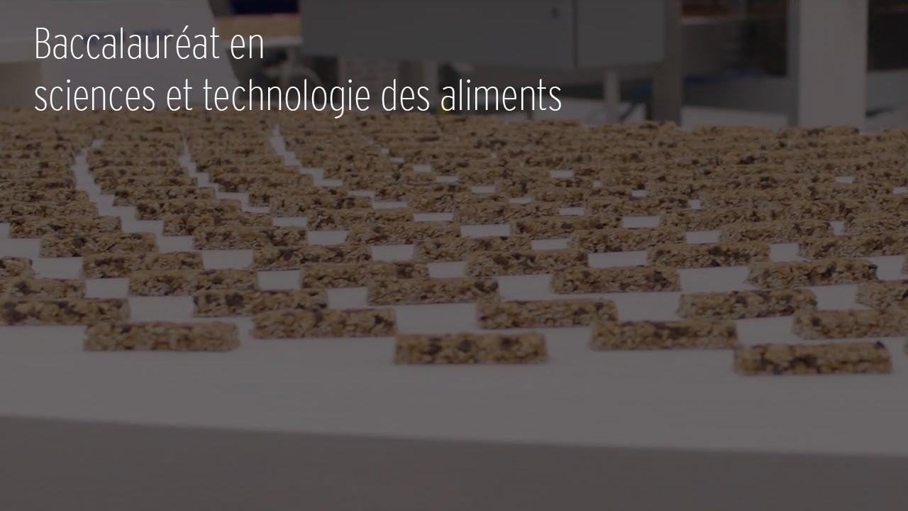 Sciences et technologie des aliments