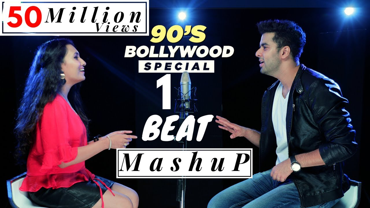 1 BEAT Mashup - 90's Bollywood - SINGOFF | Singh's Unplugged (Ft  Gurashish  Singh, Kuhu)|Cover