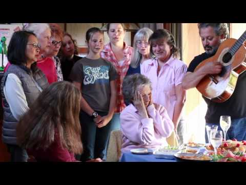 Woman with dementia realizes she's 90 while singing Happy Birthday.