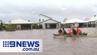 Townsville residents rescued from rooftops   Nine News Australia