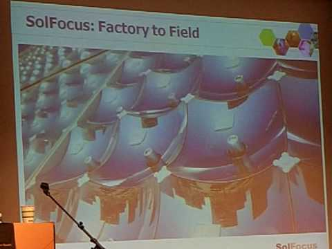 Solfocus CPV - Concentrated PhotoVoltaics using Multiple-junction solar cells.