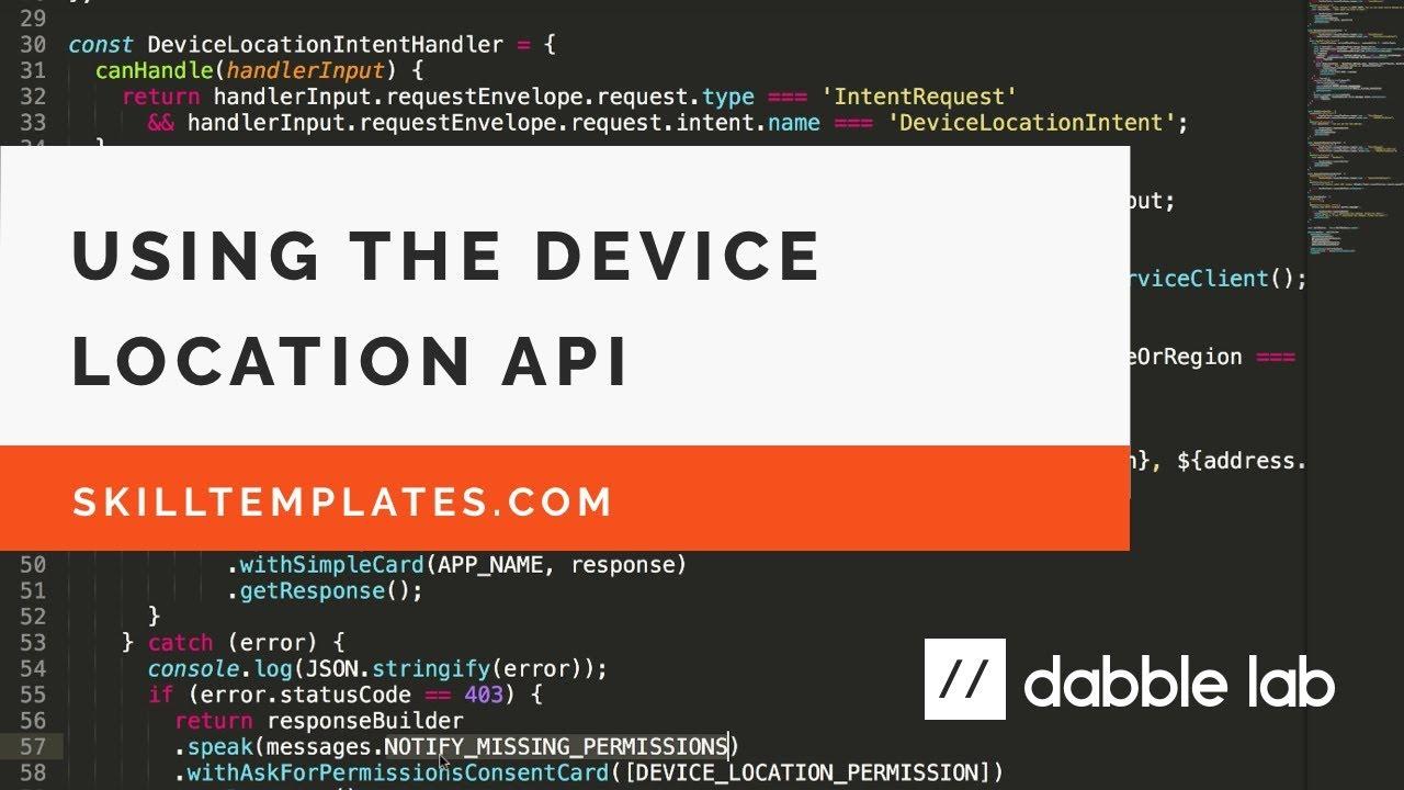 Using the Alexa Skills Kit Device Address API to personalize Alexa Skills - Dabble Lab #86 #1