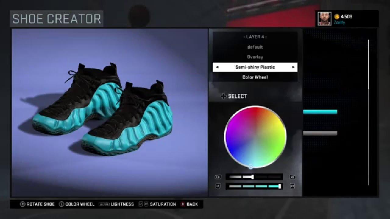 f6899a1d03fb79 NBA 2K16 Shoe Creator - Nike Foamposite One