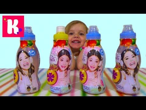 Видео, Виолетта Дисней сок с сюрпризом распаковка