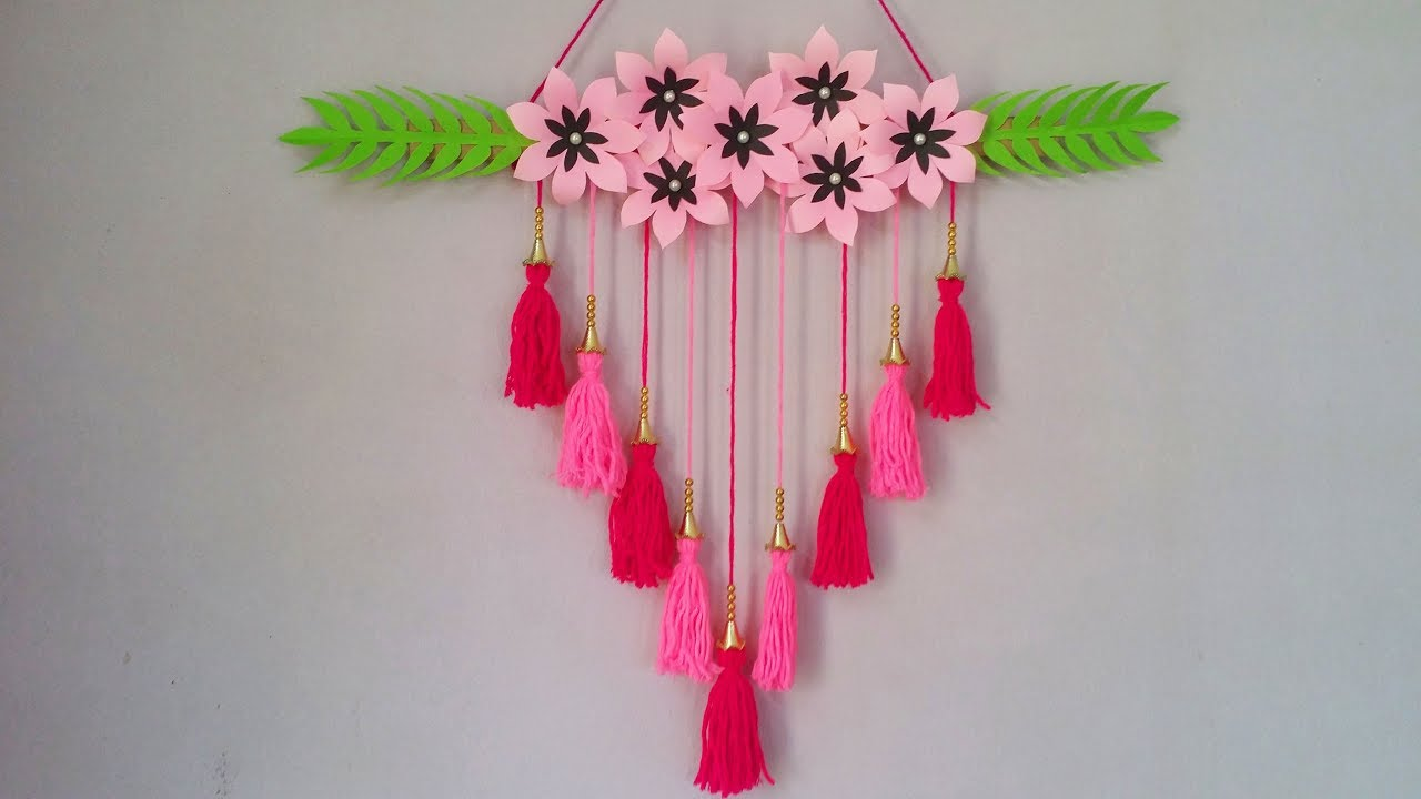 Diy Wall Decoration Idea How To Make Beautiful Wall Hanging For Home Room Decoration Cr Youtube