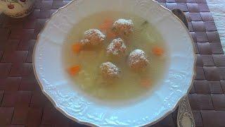 Суп с фрикадельками из индюшатины от Нади