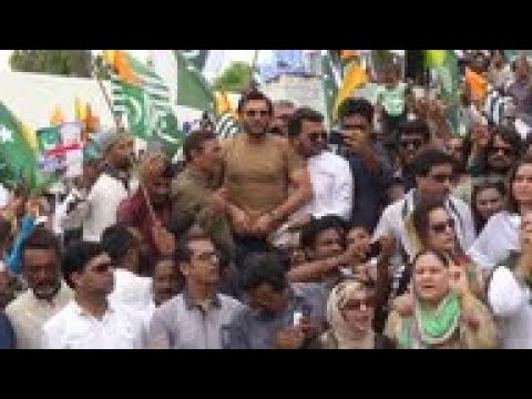 Karachi protest in support of people in Indian Kashmir