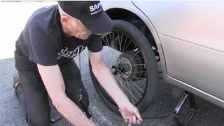 Bicycle Wheel On Car