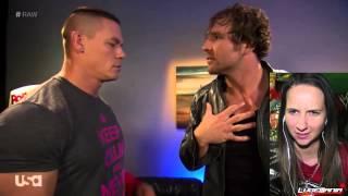 WWE Raw 10/20/14 Backstage Cena Superman Ambrose Batman Live Commentary