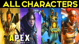 APEX LEGENDS - ALL CHARACTER CLASSES - Skins & Weapons Finishers Showcase