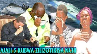 Ajali Tano Kubwa Zilizolitikisa na Kulihuzunisha Taifa la Tanzania
