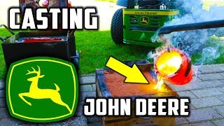 Casting Brass Mirror Polished John Deere Logo