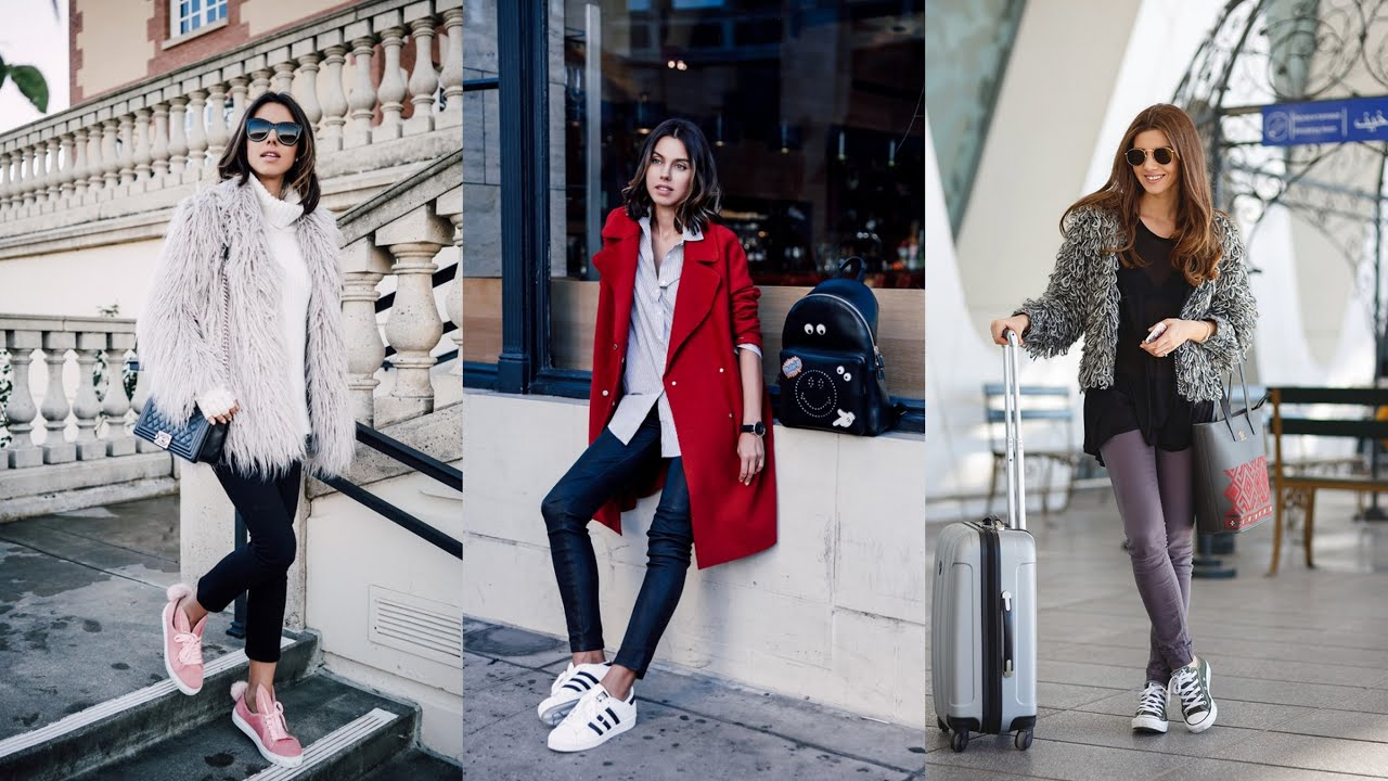 Beautiful Casual Outfits with Sneakers to Wear This Winter ...
