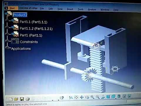 Catia V5 Generation Of Power Part 1 Rack And Pinion Simulation Raju Hemanth Preethu Dharshan