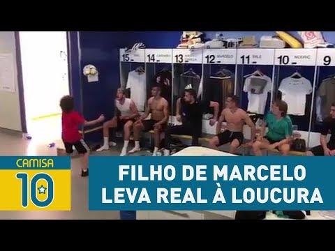 Habilidade do FILHO de Marcelo leva jogadores do Real à loucura