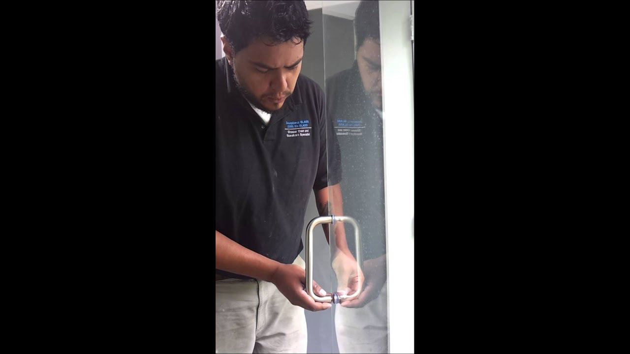 Frameless Shower How to Replace/install handle Exceptional Glass ...