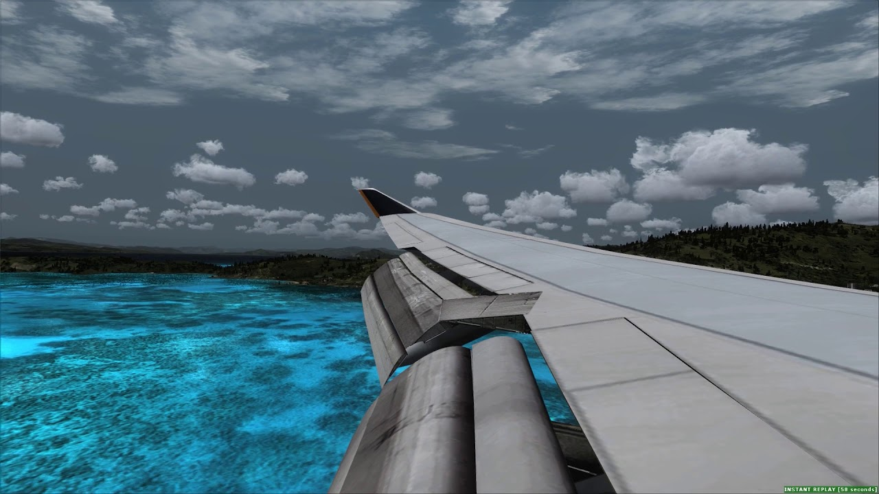 Landing at Skiathos Greece Singapore Airlines 747-400 ++ FSX