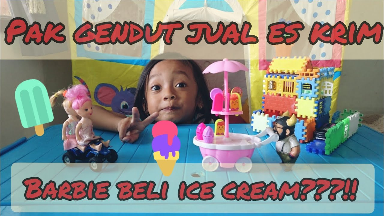 Barbie Beli Es Krim Barbie Eskrim Dirumahaja Youtube