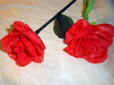 Papercraft How to make REALISTIC PAPER ROSES with crepe paper - Paper Craft - EP 366 - simplekidscrafts