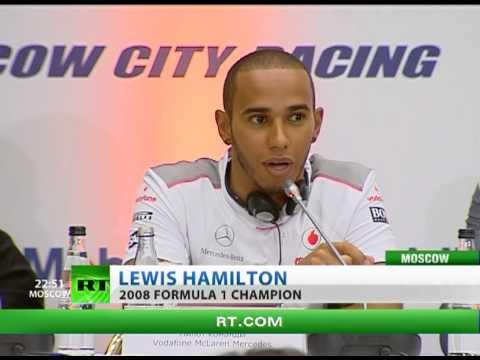 Hamilton drives near Kremlin as F1 fever returns to Moscow